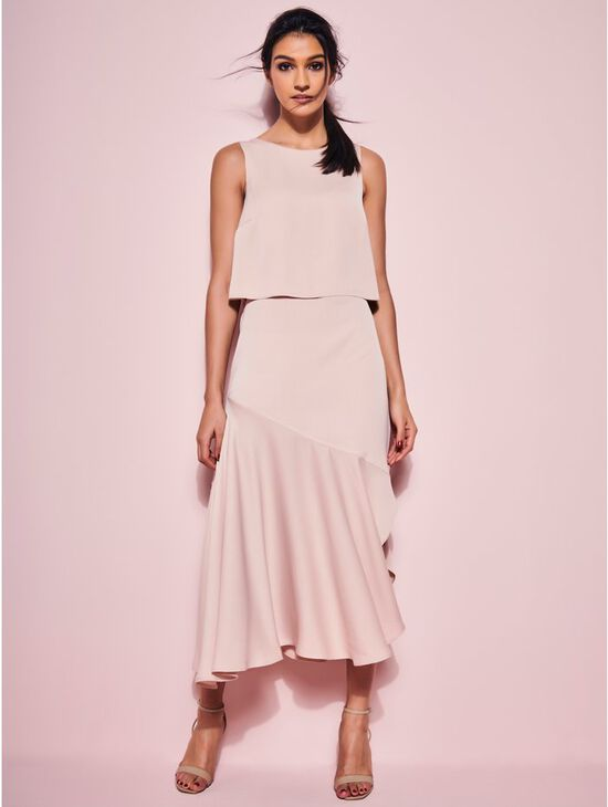 GLAMOUR Bias cut midi dress