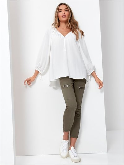 Orla Zip Front Blouse