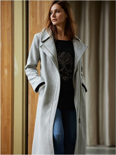 Wool Zip Biker Coat