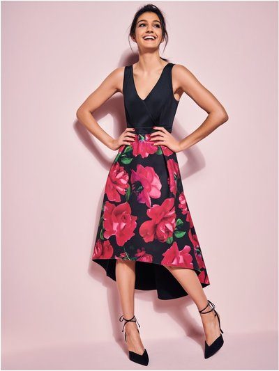 Glamour Rose Dip Hem Dress